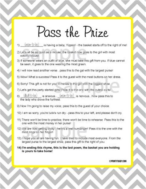 christmas pass the gift game pass the prize pass the prize baby shower baby shower ideas printable