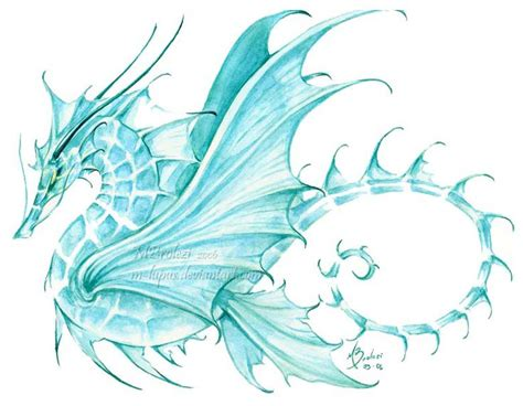 water dragon tattoo designs sea by m lupus deviantart on deviantart