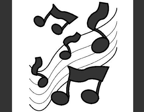 imagenes en blanco y negro de notas musicales dibujo de musica blanco y negro pintado por valenti1 en