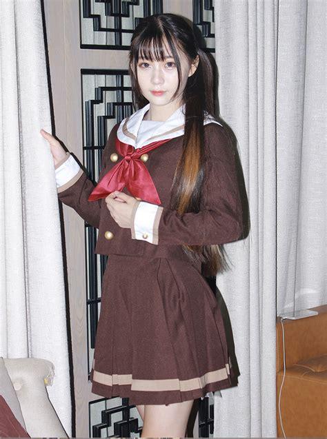 Jaket Sailor Skirt cheap japanese student sailor suit jacket