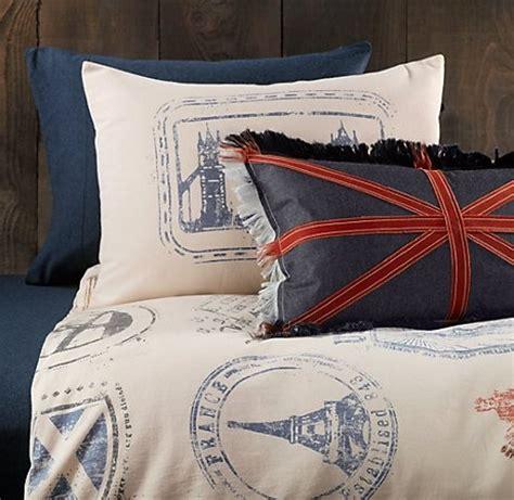 passport comforter bedding for travel themed room home design ideas i