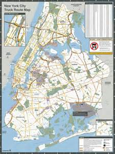 Truck Route Map by Nyc Truck Routes Map Maplets