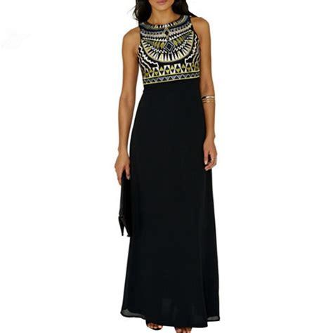 Dresss Sleeveless Tribal Babyterry All Size Modis tribal print dress chiffon sleeveless