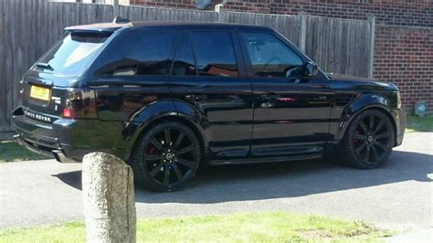 all black range rover 56 reg range rover sport with hst bodykit 2 7 tdv6 all