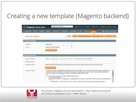magento create template customizing magento email templates