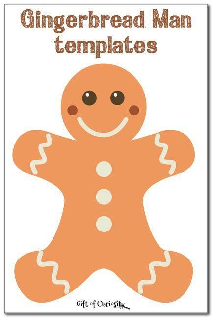 gingerbread man printable pdf gingerbread man templates activities gingerbread man