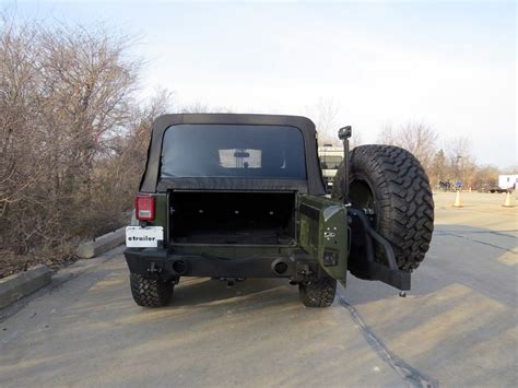 swing away spare tire carrier rage rear recovery bumper for jeep swing away spare