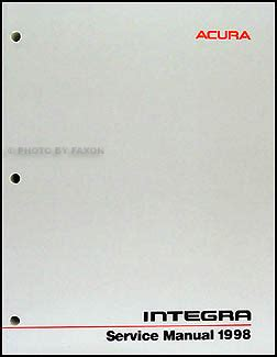 1999 Acura Integra Repair Shop Manual Original Supplement