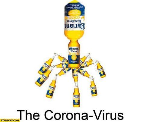 corona virus   corona extra beer bottles
