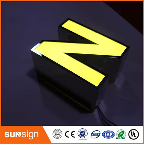 Led L Kit Suppliers by Led Sign Mirror Stainless Steel Logo Outdoor Led Sign 3d