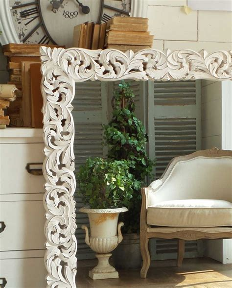specchio da parete con cornice specchio da parete con cornice legno shabby mobilia