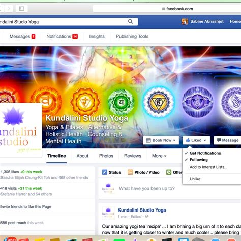 join our facebook page kundalini yoga studio in norwood adelaide