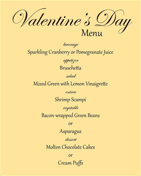 valentines day menu ideas search results calendar 2015