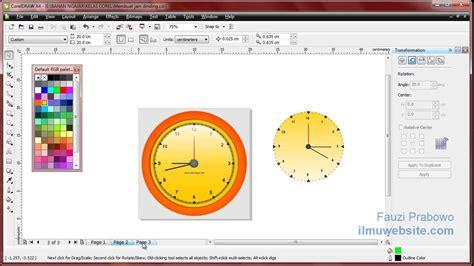 desain jam dinding dengan coreldraw tutorial coreldraw membuat jam dinding menggunakan