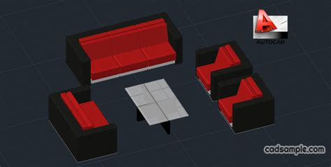 3d furniture draing sofa 3d in autocad drawing free dwg 187 cadsle