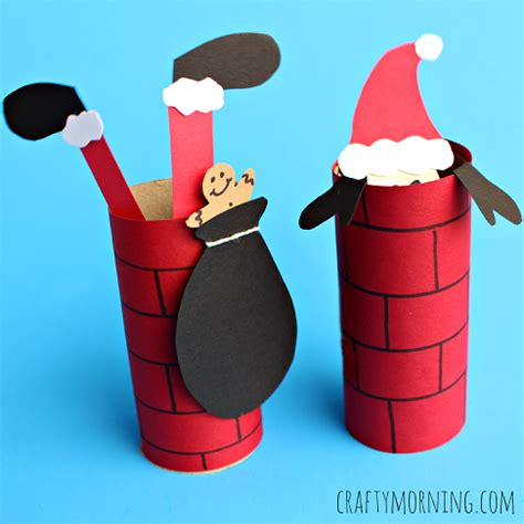 Santa Papercraft - craft santa going a toilet paper roll