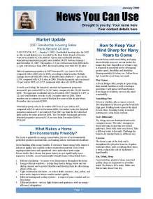 newsletter pages template real estate newsletters 5 essential tips to make clients