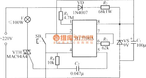 integrated light circuit stepless dimming light circuit with special integrated circuit ht7700a control circuit