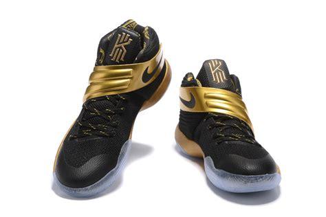 nike kyrie 2 pe black gold mens basketball shoe kyrie