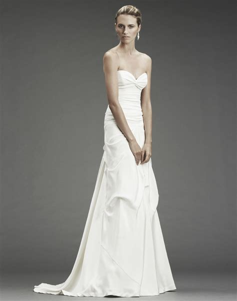 chic and simple a line wedding dress with sweetheart