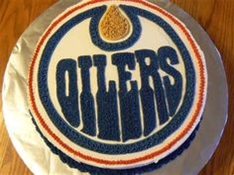 themed birthday cakes edmonton oilers on pinterest license plates sugar cookies and