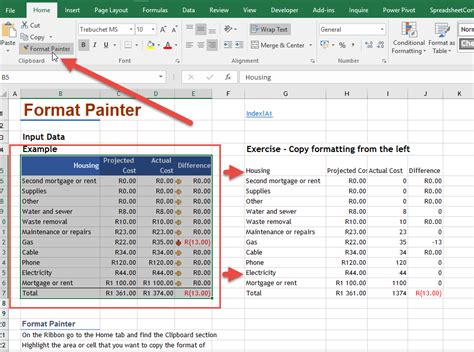 format painter excel format painter online excel training auditexcel co za