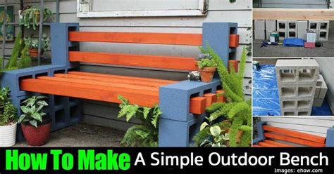 how to build a simple outdoor bench how to make a simple outdoor garden bench