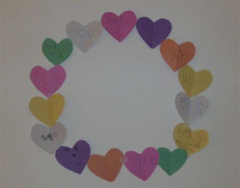 Craft Paper Hearts - v is for preschool activity and valentine s day
