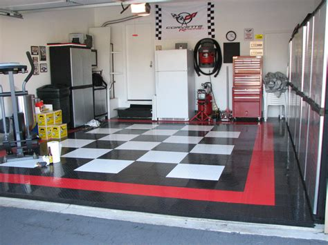 ideas design charming garage design ideas with white wall decoration also black and white floors furniture