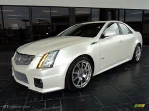 Cadillac Cts V White 2010 White Tricoat Cadillac Cts V Sedan 46091828
