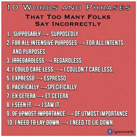 slang words and phrases 10 words phrases that too many folks say incorrectly