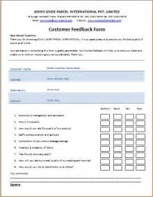 template for feedback form for ms word printable customer feedback form template word