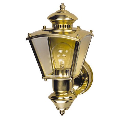 brass motion sensor outdoor lighting shop heath zenith 16 5 in h polished brass motion