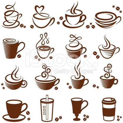 coffee mug tattoo coffee cup royalty free vector white vector icon set
