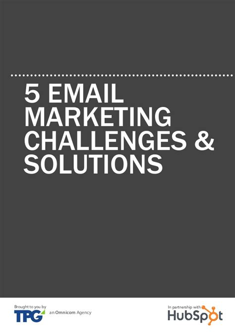 Email Marketing 5 by 5 Email Marketing Challenges Solutions