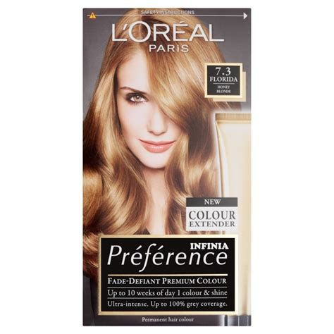 l39oreal preference hair dye 3 recital preference florida honey blond 7 3 toiletries