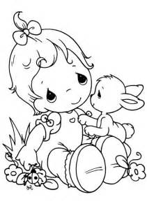 Precious Moments  Tell Me Your Secret Coloring Page sketch template