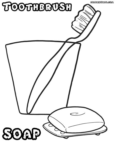 toothbrush coloring pages coloring pages to download and