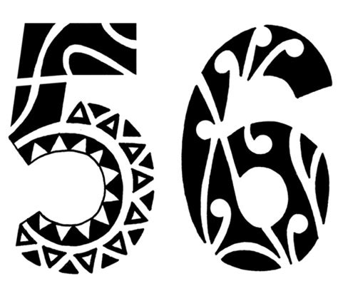 tribal tattoo numbers flash polynesian ideatattoo