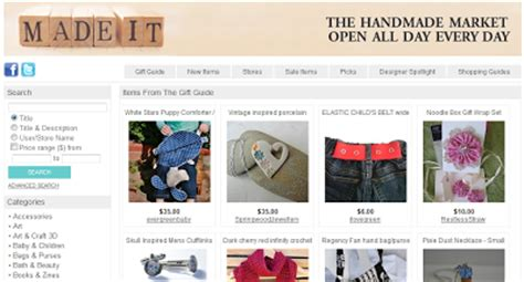 Websites To Sell Handmade Items - collection of 15 websites list to sell and buy