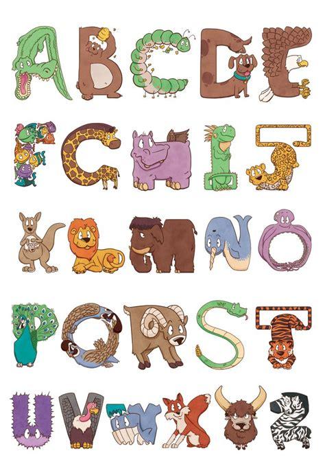 quot animals zoo alphabet with animals u bendy zoo alphabet animals print by sauer society6