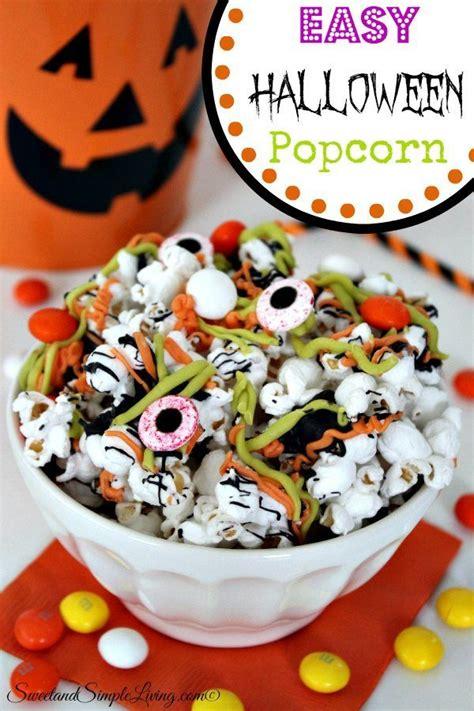 easy halloween popcorn sweet  simple living