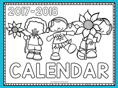 2018 coloring calendar monthly planner books free 2017 2018 monthly calendar for liz s early