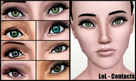 colored contacts simulator mod the sims lol and starry defaults