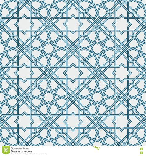 modern islamic pattern vector traditional islam geometric pattern seamless stock vector