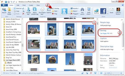 geotag pictures  windows  photo gallery