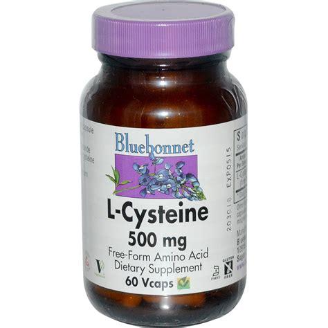 supplement l cysteine bluebonnet nutrition l cysteine 500 mg 60 vcaps iherb