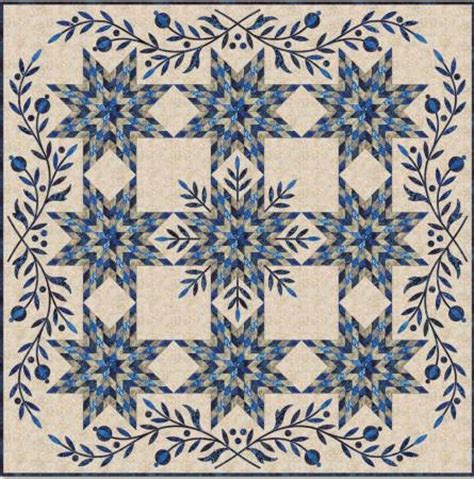 snowflake pattern for applique snowflake star applique quilt pattern by edyta sitar