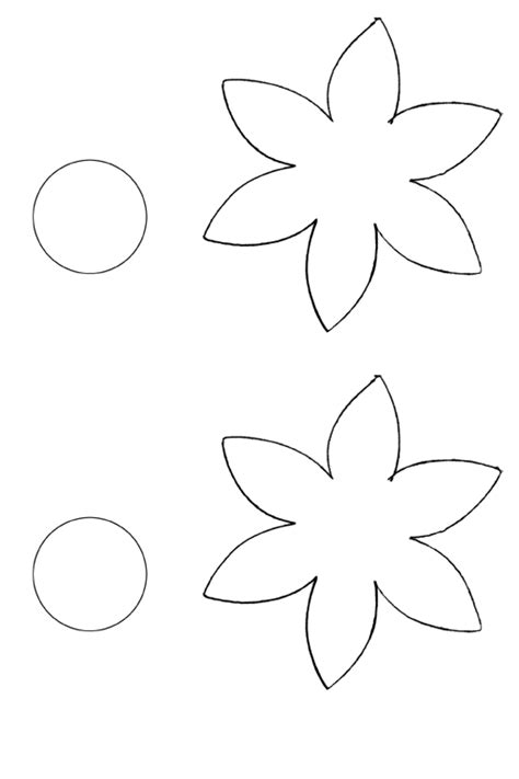 free printable flower template cut out