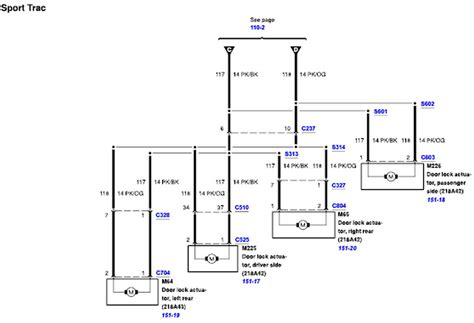 door lock wiring diagram ford explorer and ranger forums i